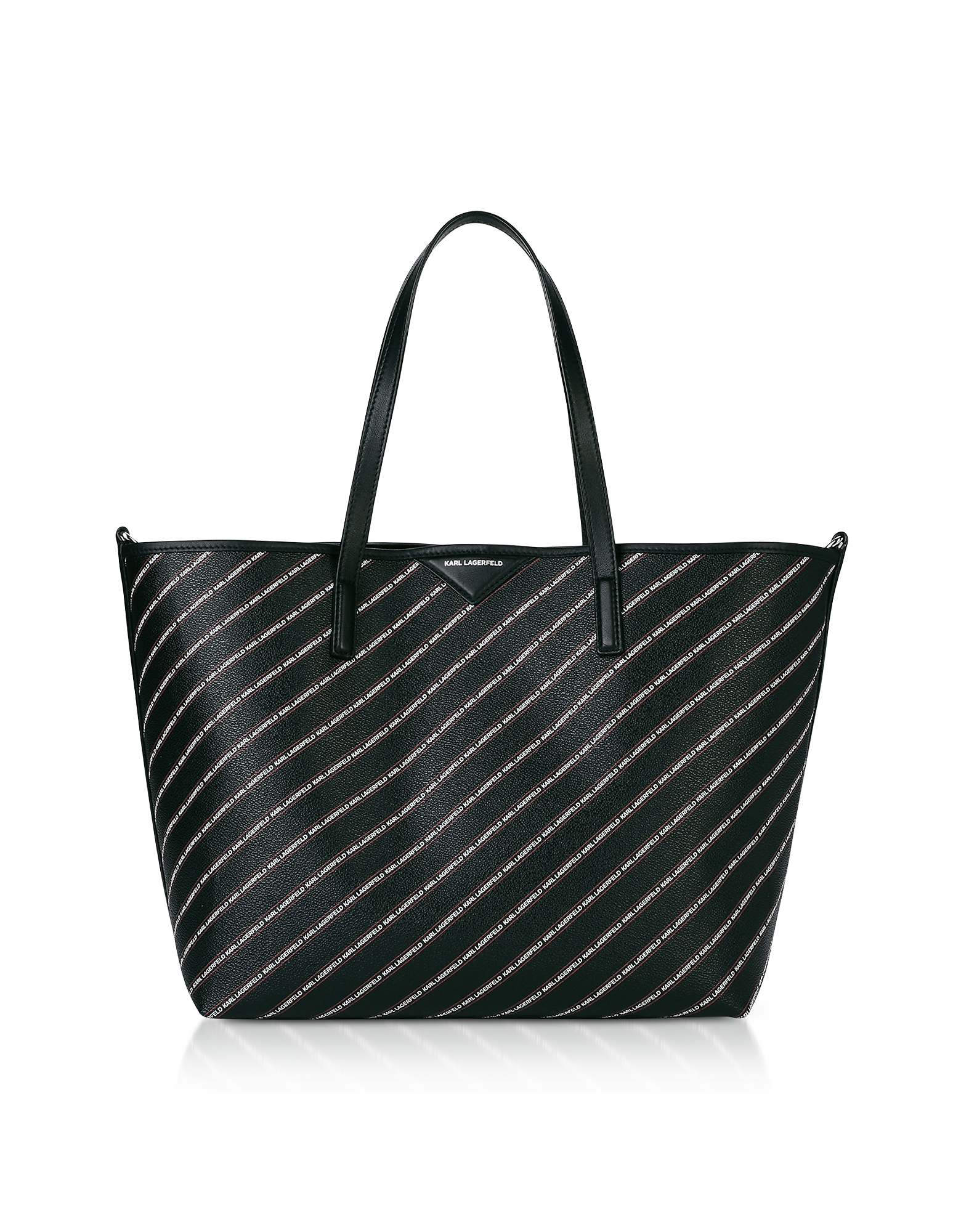 Karl Lagerfeld Designer Handbags, K/Stripe Logo Shopper