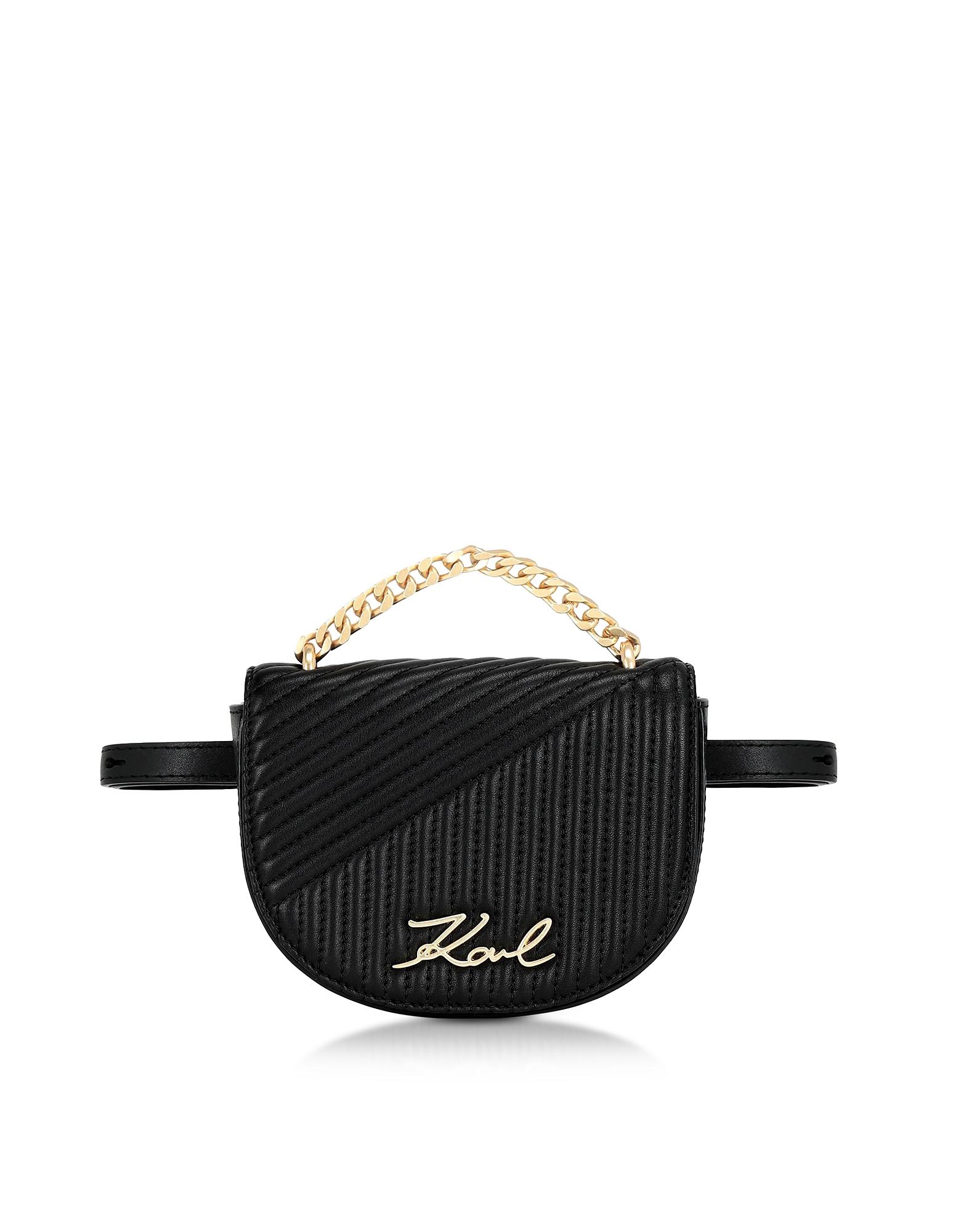 K/Signature Quilted Belt Bag