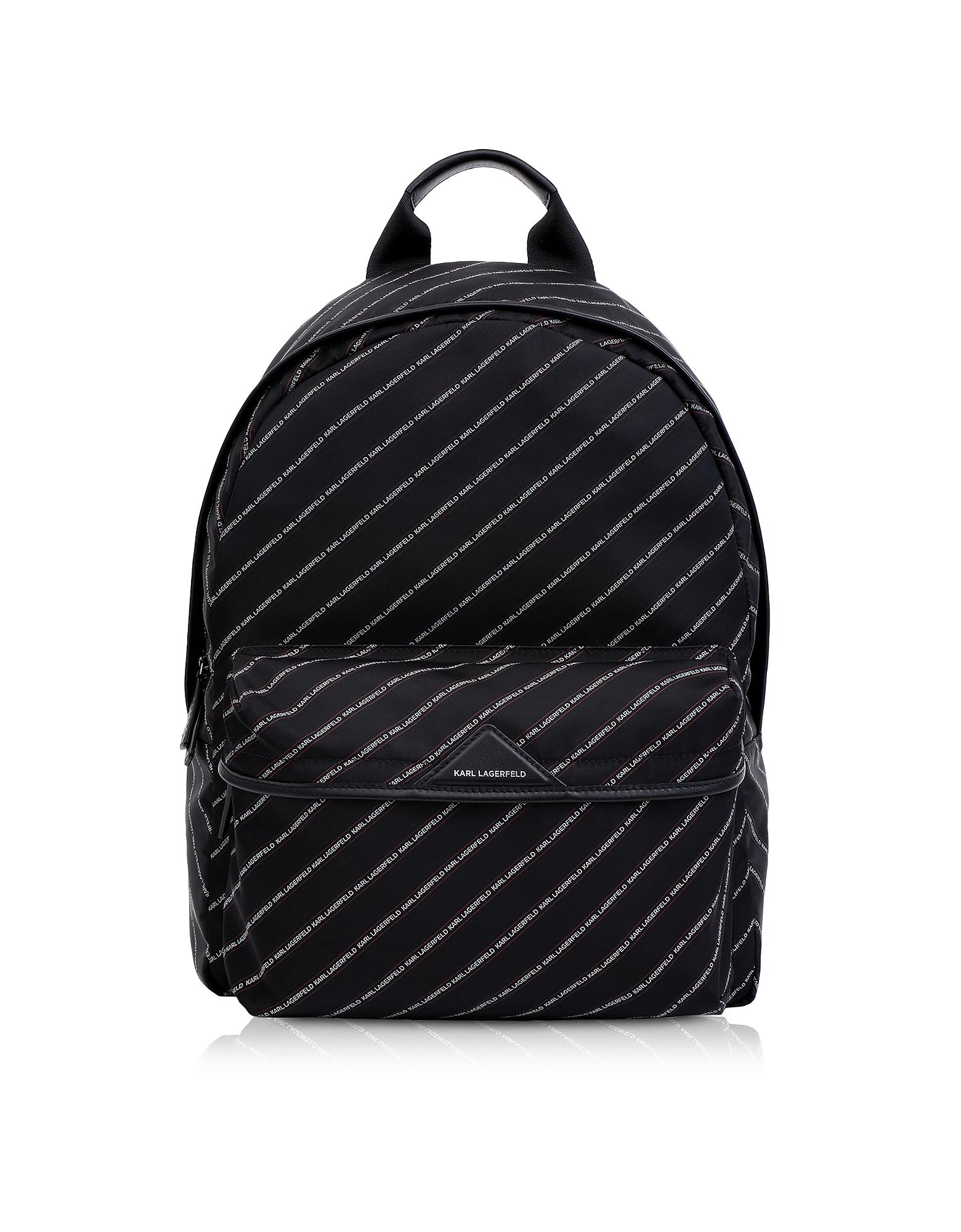 K/Stripe Logo Nylon Backpack
