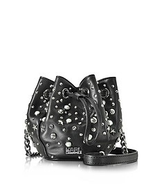 K/Rocky Studs Mini Bucket Bag - Karl Lagerfeld