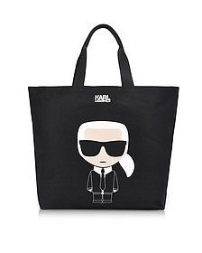 K/Ikonik Canvas Shopper Bag - Karl Lagerfeld