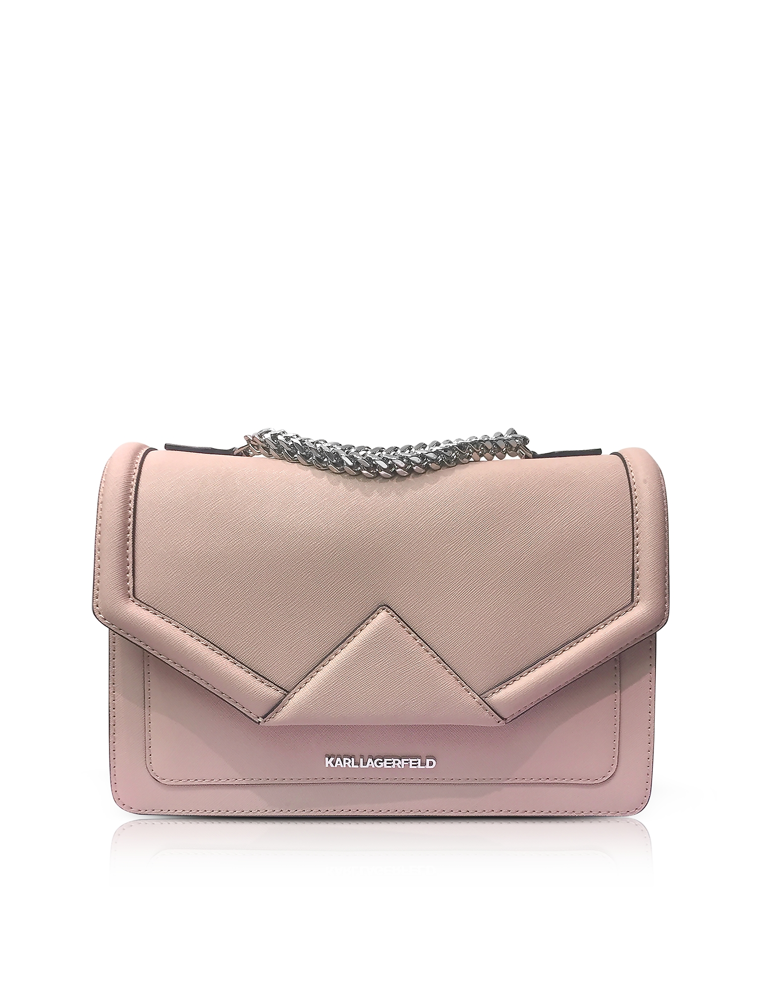 Karl Lagerfeld Handbags, K/Klassik Pink Ballet Leather Shoulder Bag