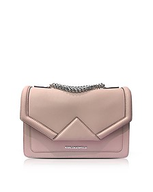 K/Klassik Pink Ballet Leather Shoulder Bag - Karl Lagerfeld