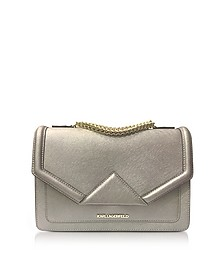 K/Klassik Bronze Leather Shoulder Bag - Karl Lagerfeld
