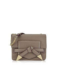 Sand Stone Leather K/Rocky Bow Crossbody Bag  - Karl Lagerfeld