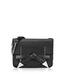 Black Leather K/Rocky Bow Crossbody Bag - Karl Lagerfeld