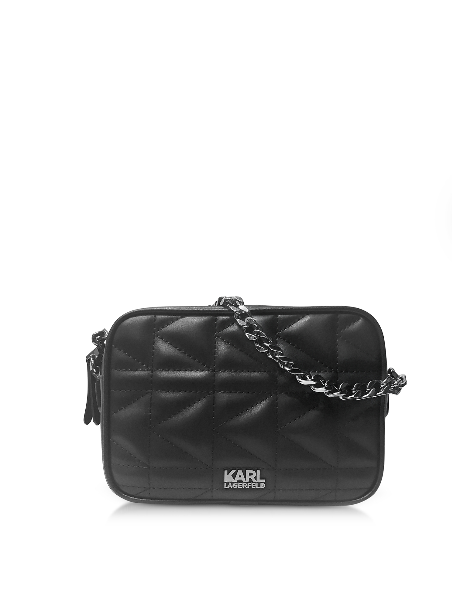 Karl Lagerfeld Handbags, K/Kuilted Black Leather Crossbody Bag