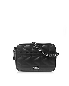 K/Kuilted Black Leather Crossbody Bag - Karl Lagerfeld