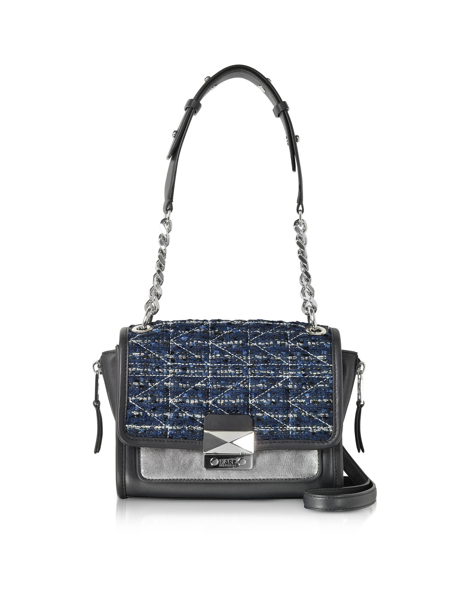 Karl Lagerfeld Handbags, K/Kuilted Tweed Night Sky Handbag
