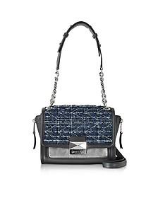 K/Kuilted Tweed Night Sky Handbag - Karl Lagerfeld