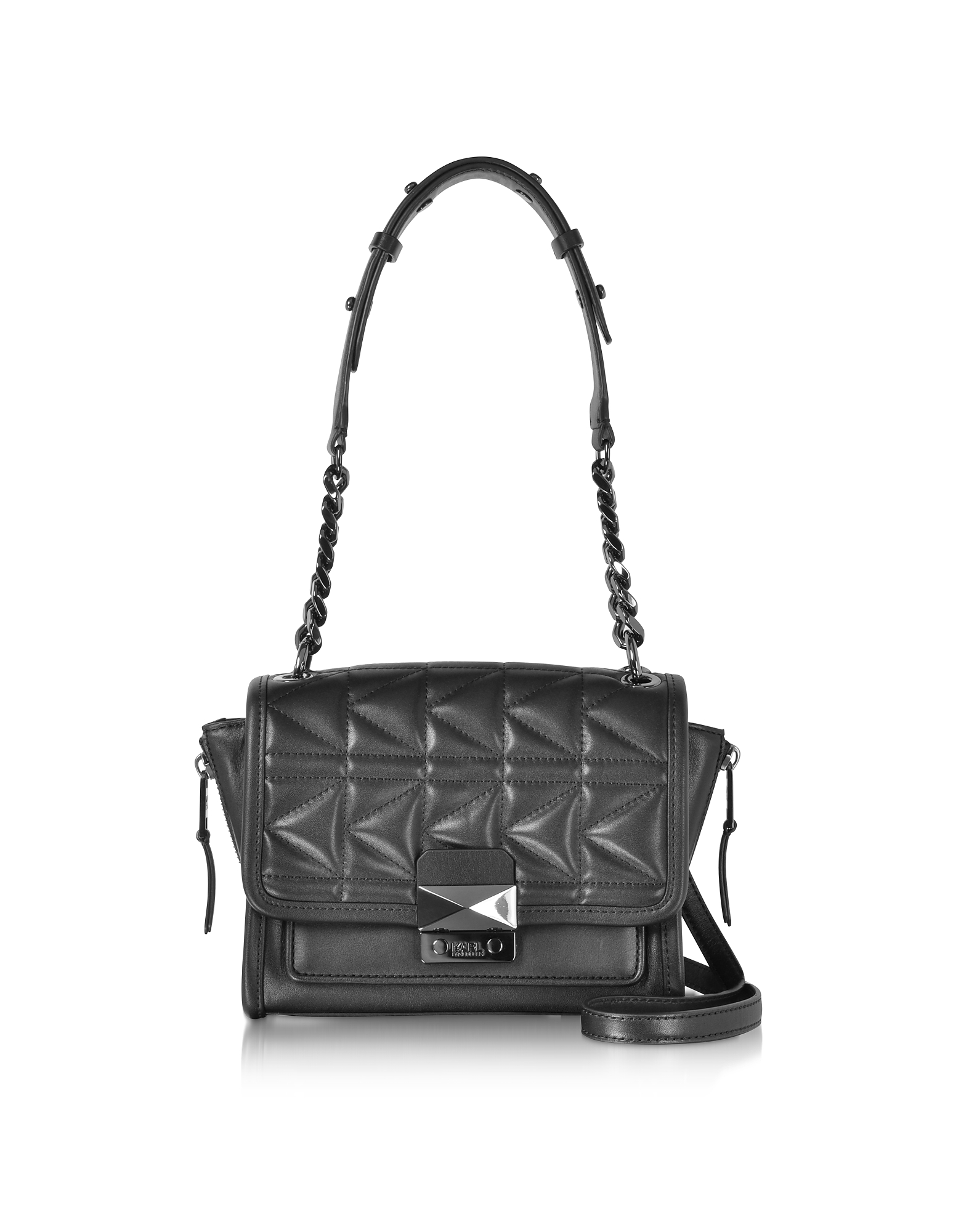 Karl Lagerfeld Handbags, K/Kuilted Black Leather Mini Handbag