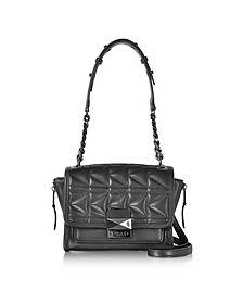 K/Kuilted Black Leather Mini Handbag - Karl Lagerfeld