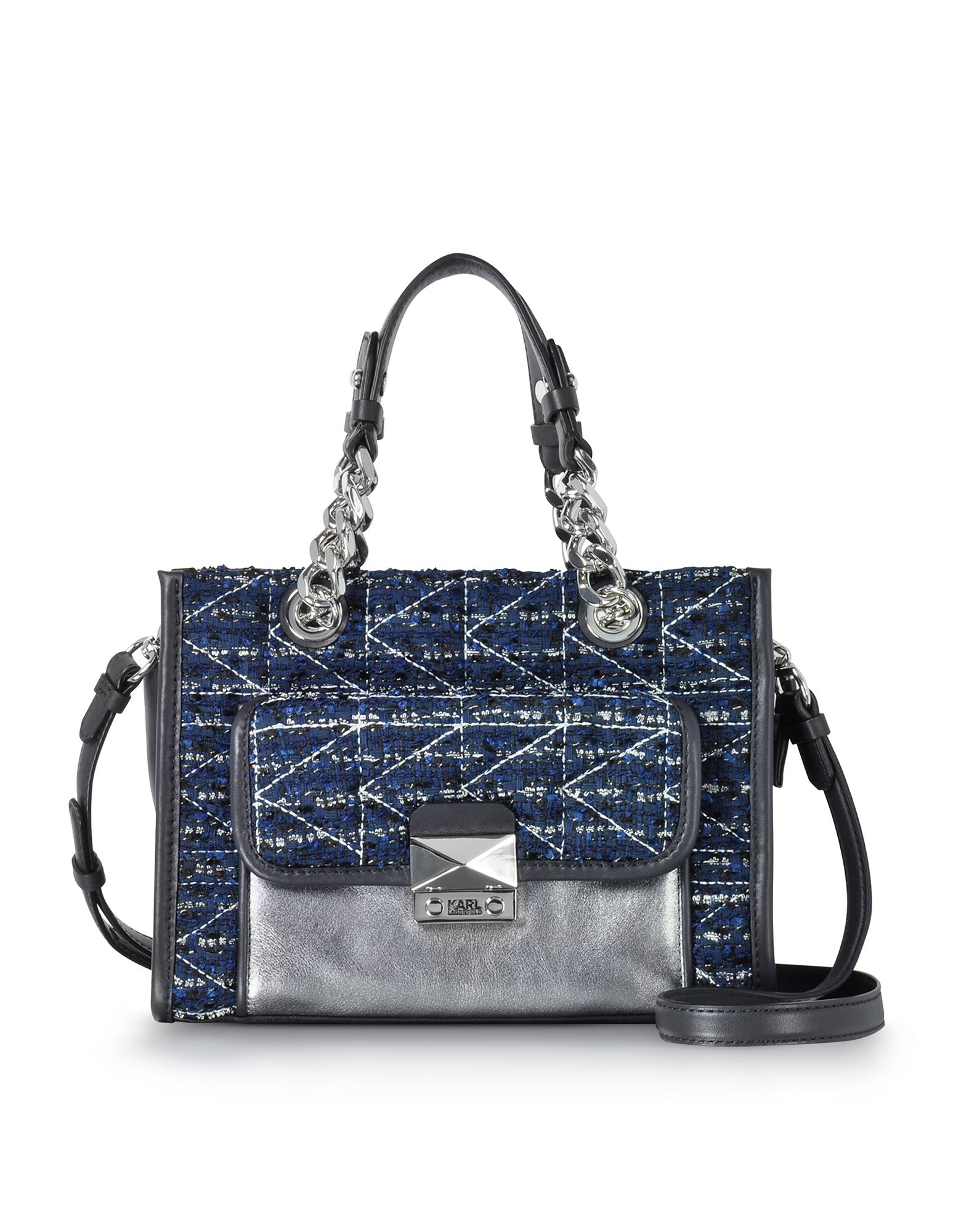 Karl Lagerfeld Handbags, K/Kuilted Tweed Night Sky Mini Tote Bag