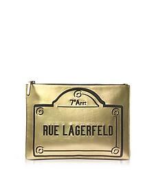 Rue Lagerfeld Zip Pouch - Karl Lagerfeld