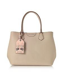 K/Shopper Earth Leather Tote Bag w/Luggage Tag - Karl Lagerfeld