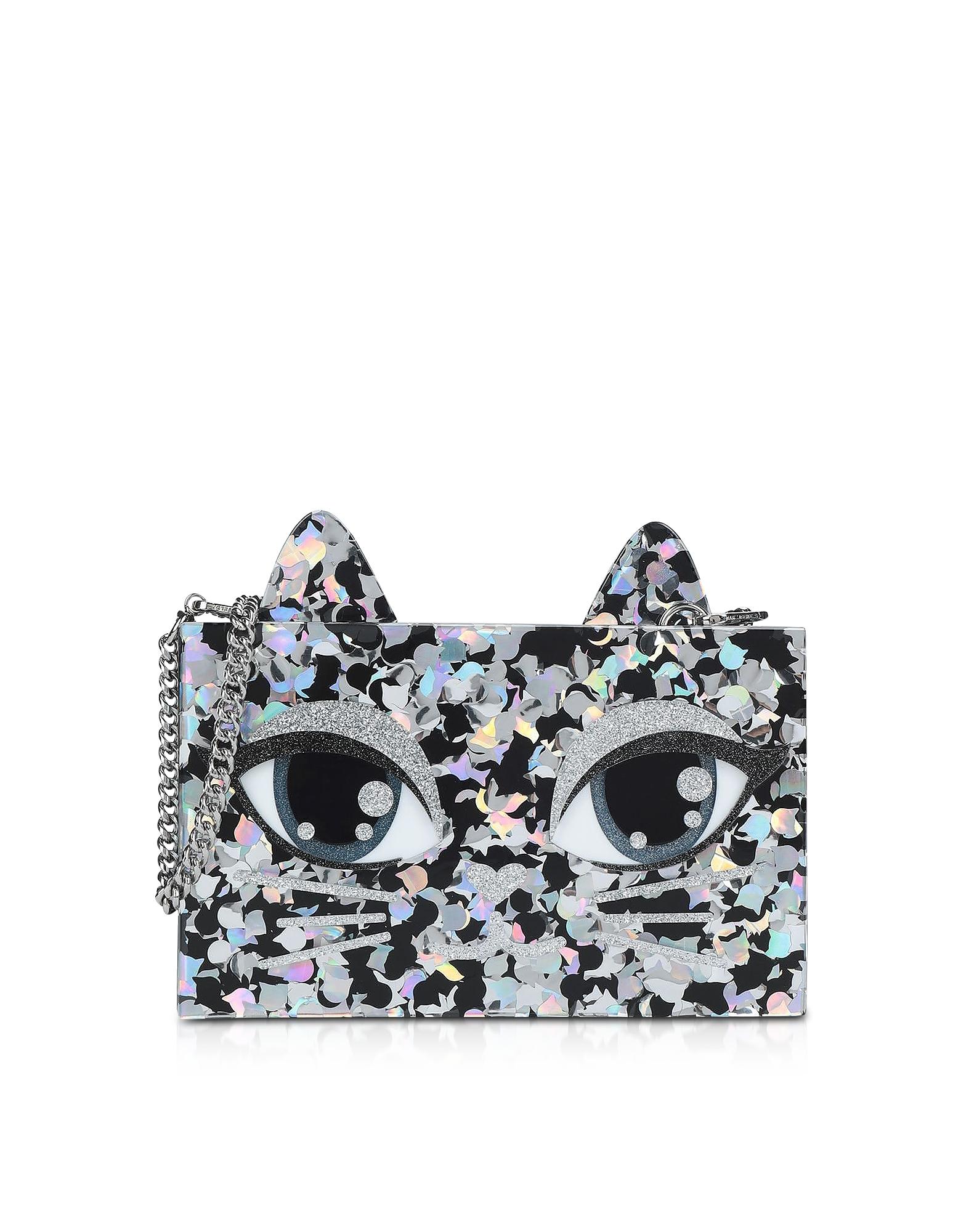 Karl Lagerfeld Handbags, Choupette Glitter Minaudiere Clutch