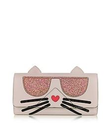 K/Kocktail Choupette Wallet w/Glitter - Karl Lagerfeld