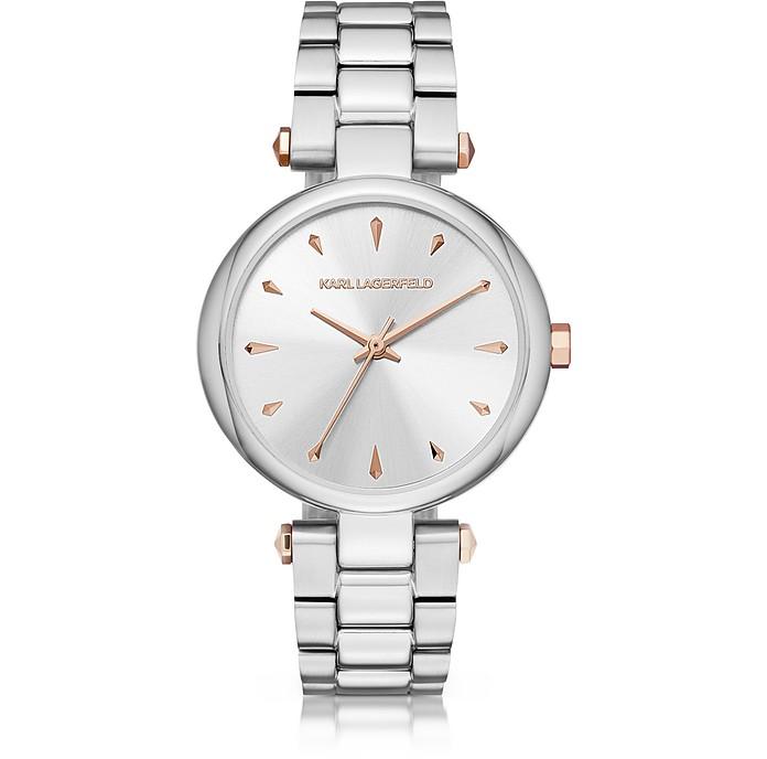 Aurelie Stainless Steel Women's Quartz Watch w/Signature Dial - Karl Lagerfeld