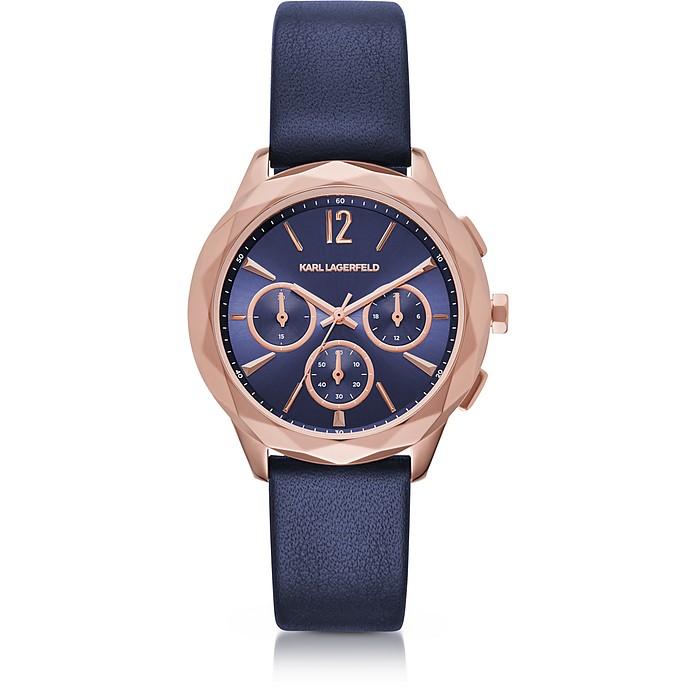 Optik PVD Rose Goldtone Stainless Women's Chronograph Watch - Karl Lagerfeld