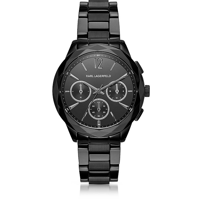 Optik Black Stainless Steel Women's Chronograph Watch - Karl Lagerfeld