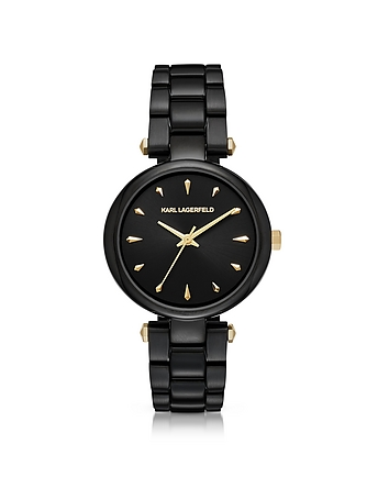 Karl Lagerfeld - Aurelie Black Stainless Steel Women's Quartz Watch w/Signature Dial