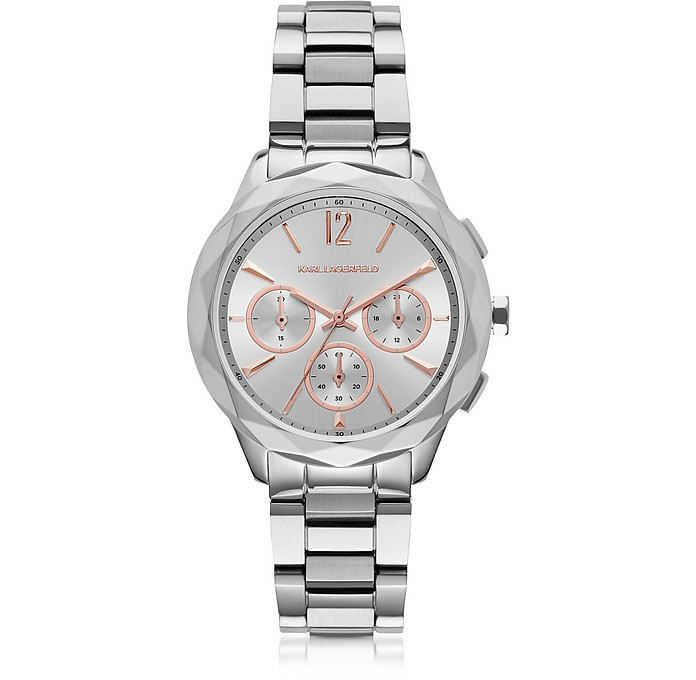 Optik Stainless Steel Women's Chronograph Watch - Karl Lagerfeld