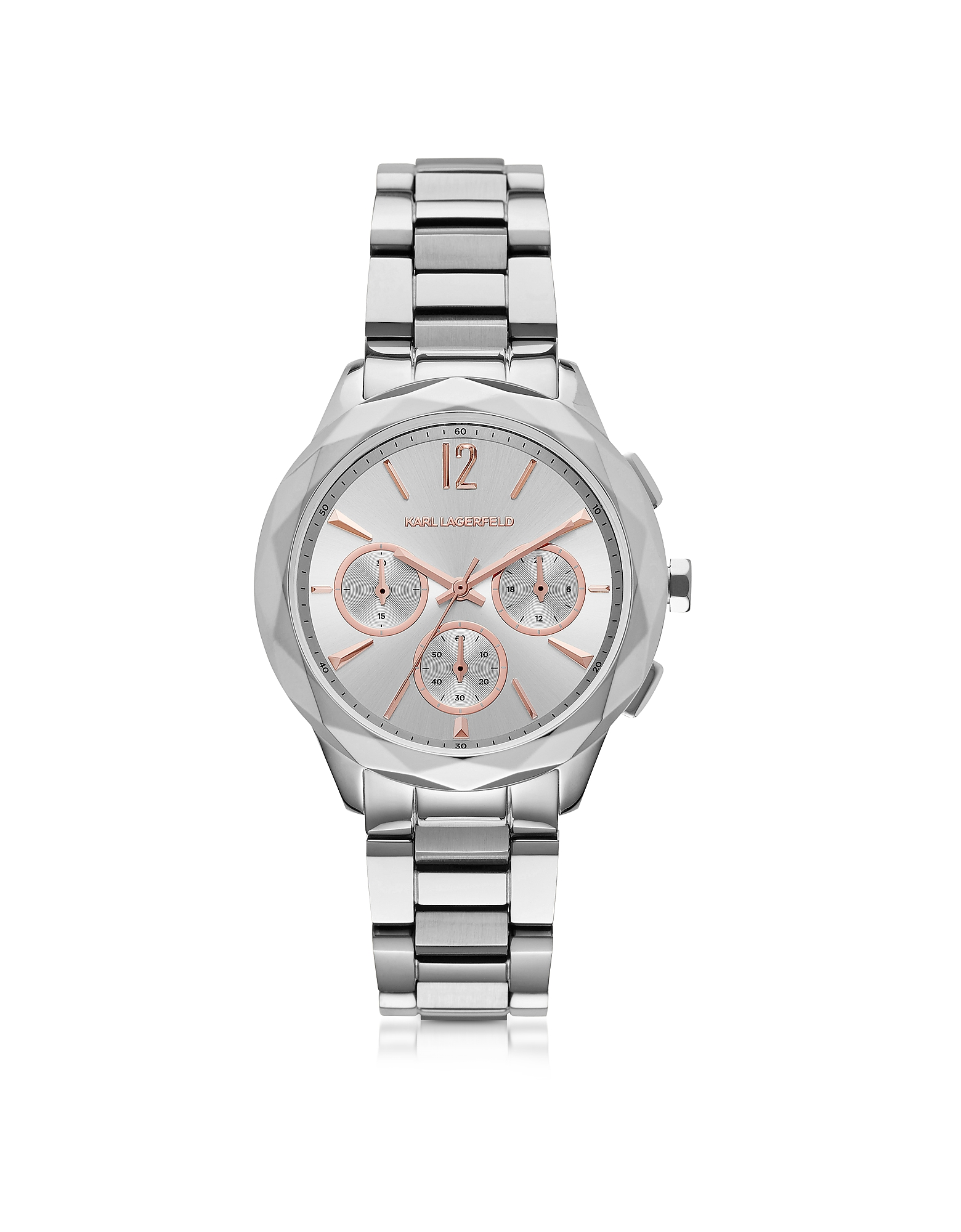 Karl Lagerfeld Women's Watches, Optik Stainless Steel Women's Chronograph Watch