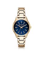 Karl Lagerfeld Belleville Gold-tone PVD Stainless Steel Women's Quartz Watch w/Deep Blue Dial kl270017-010-00