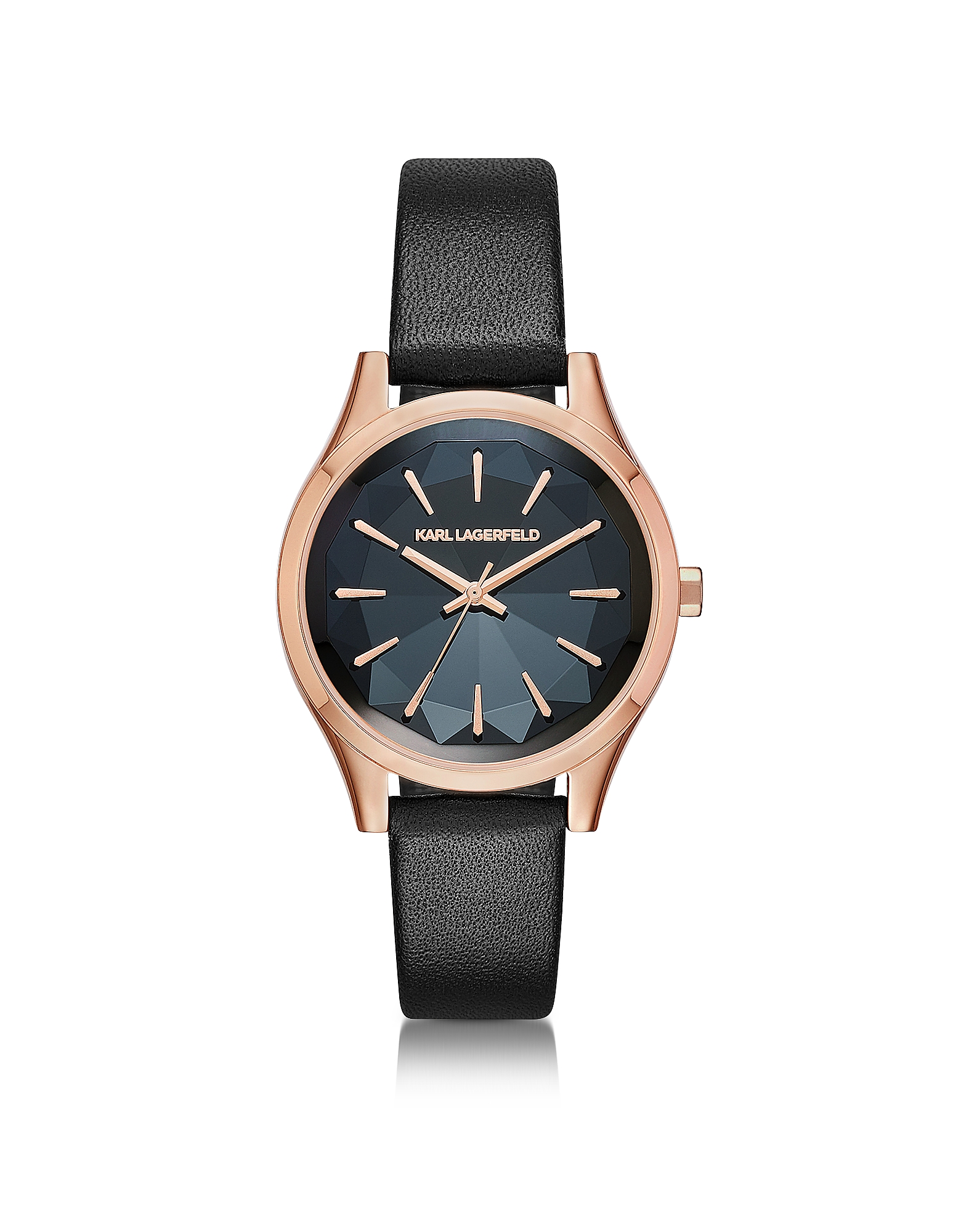 Karl Lagerfeld Women's Watches, Janelle Rose Gold-tone PVD Stainless Steel Women's Quartz Watch w/Bl
