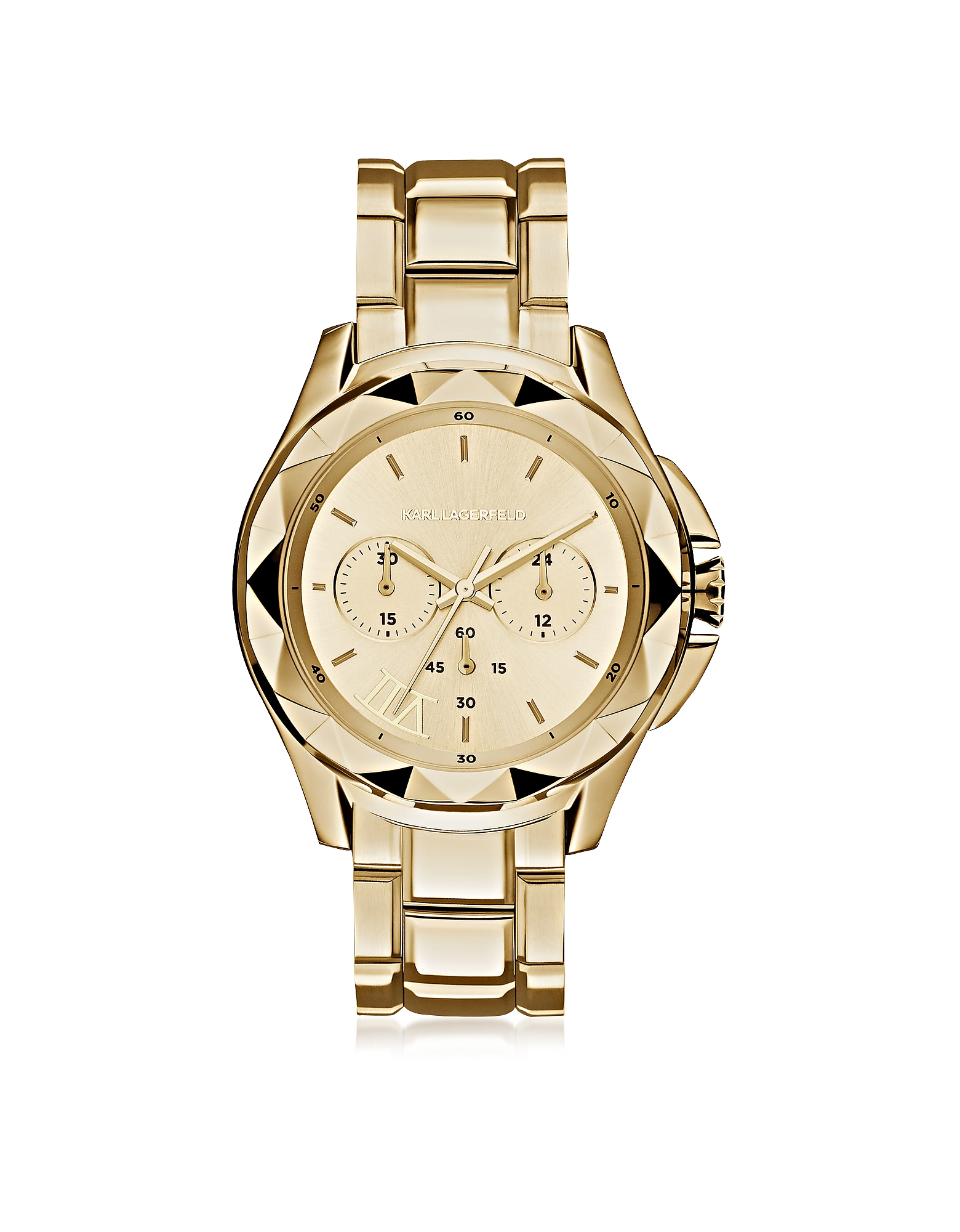 Karl Lagerfeld Women's Watches, Karl 7 Iconic Unisex Golden Chronograph Watch