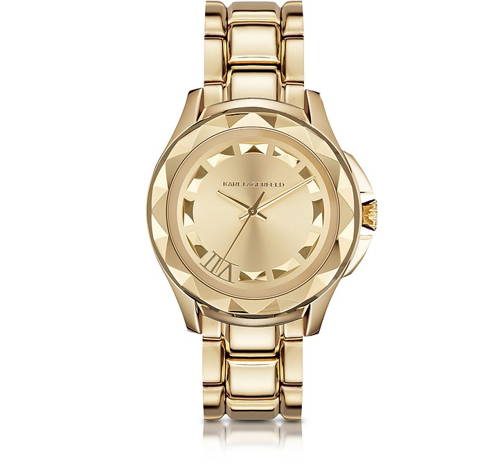 Karl 7 43.5mm Gold IP Stainless Steel Unisex Watch - Karl Lagerfeld