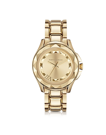 Karl Lagerfeld - Karl 7 43.5mm Gold IP Stainless Steel Unisex Watch