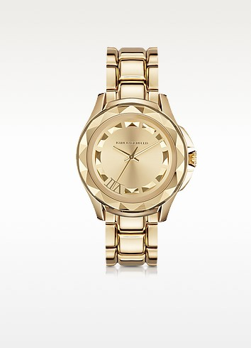 Karl 7 43.5mm Gold IP Stainless Steel Unisex Watch - Karl Lagerfeld