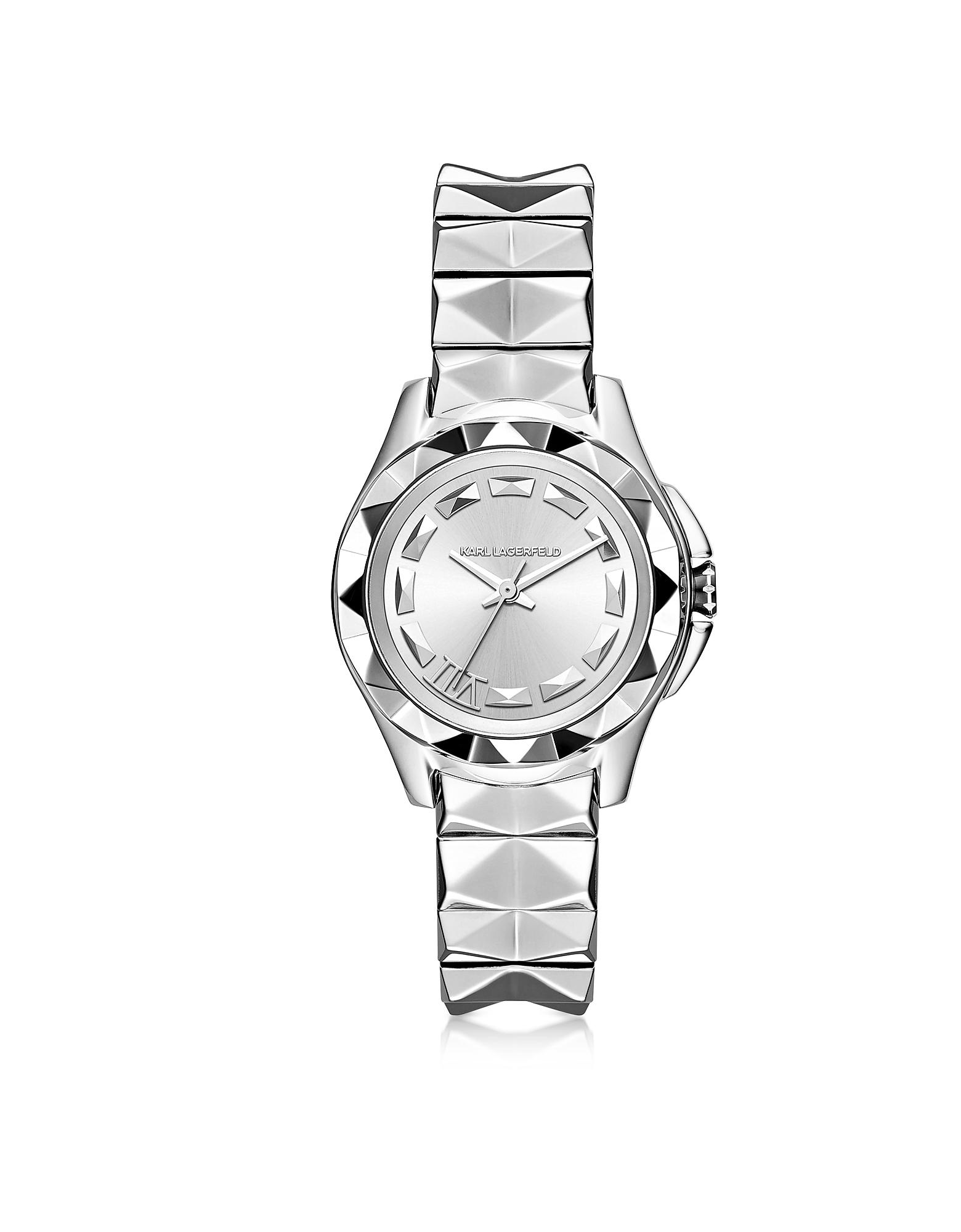 Karl Lagerfeld Karl 7 - 30 мм Женские Часы из Нержавеющей Стали с Напылением Серебра