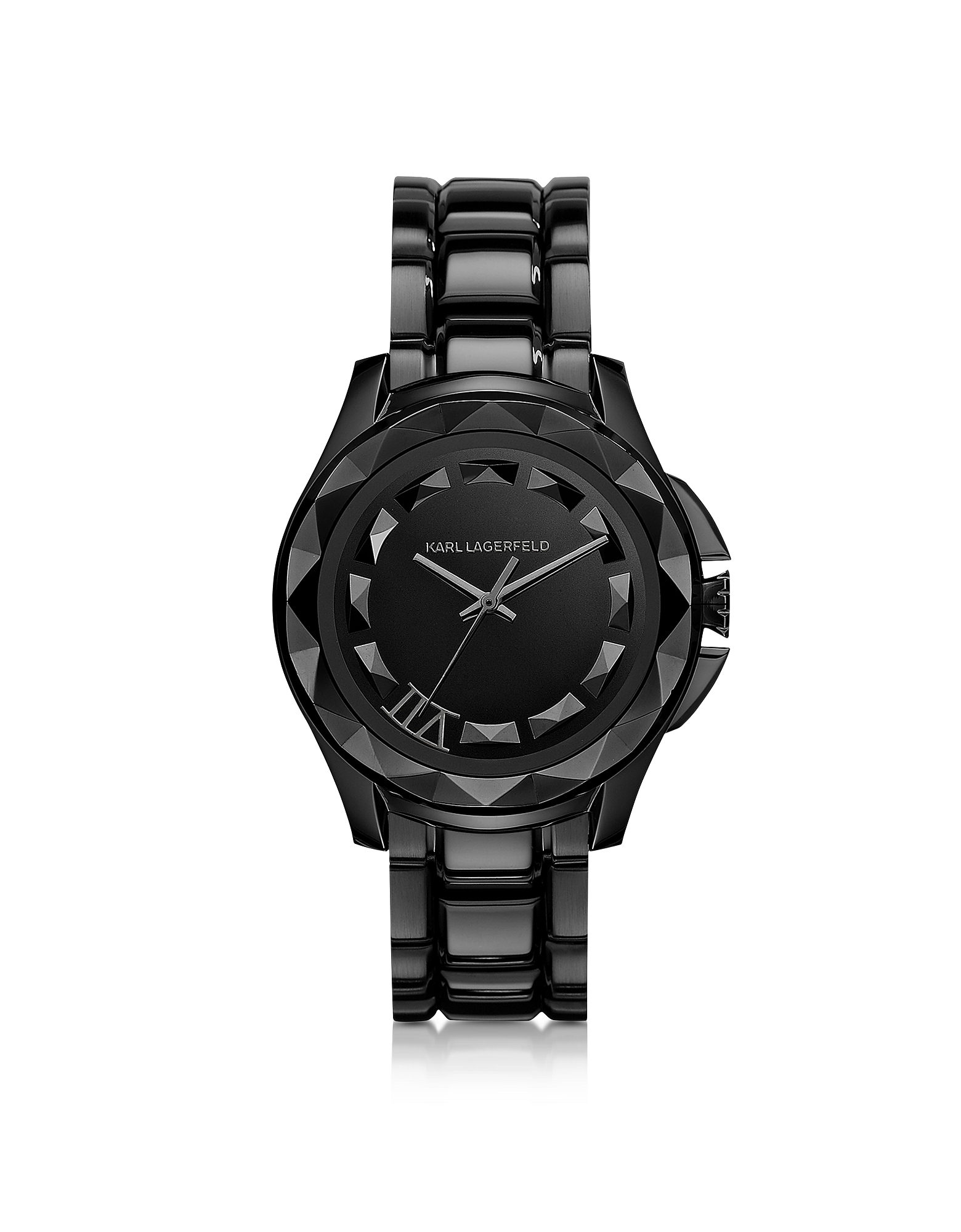 Karl Lagerfeld Women's Watches, Karl 7 43.5 mm Black IP Stainless Steel Unisex Watch
