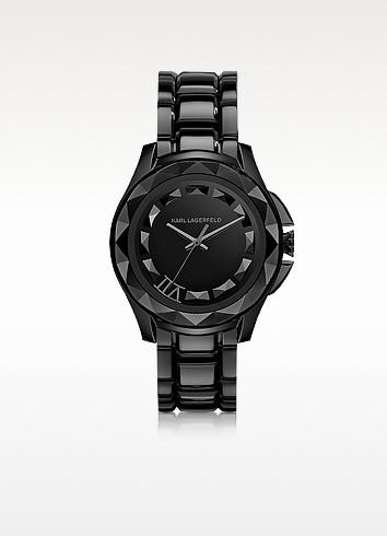 Karl 7 43.5 mm Black IP Stainless Steel Unisex Watch - Karl Lagerfeld