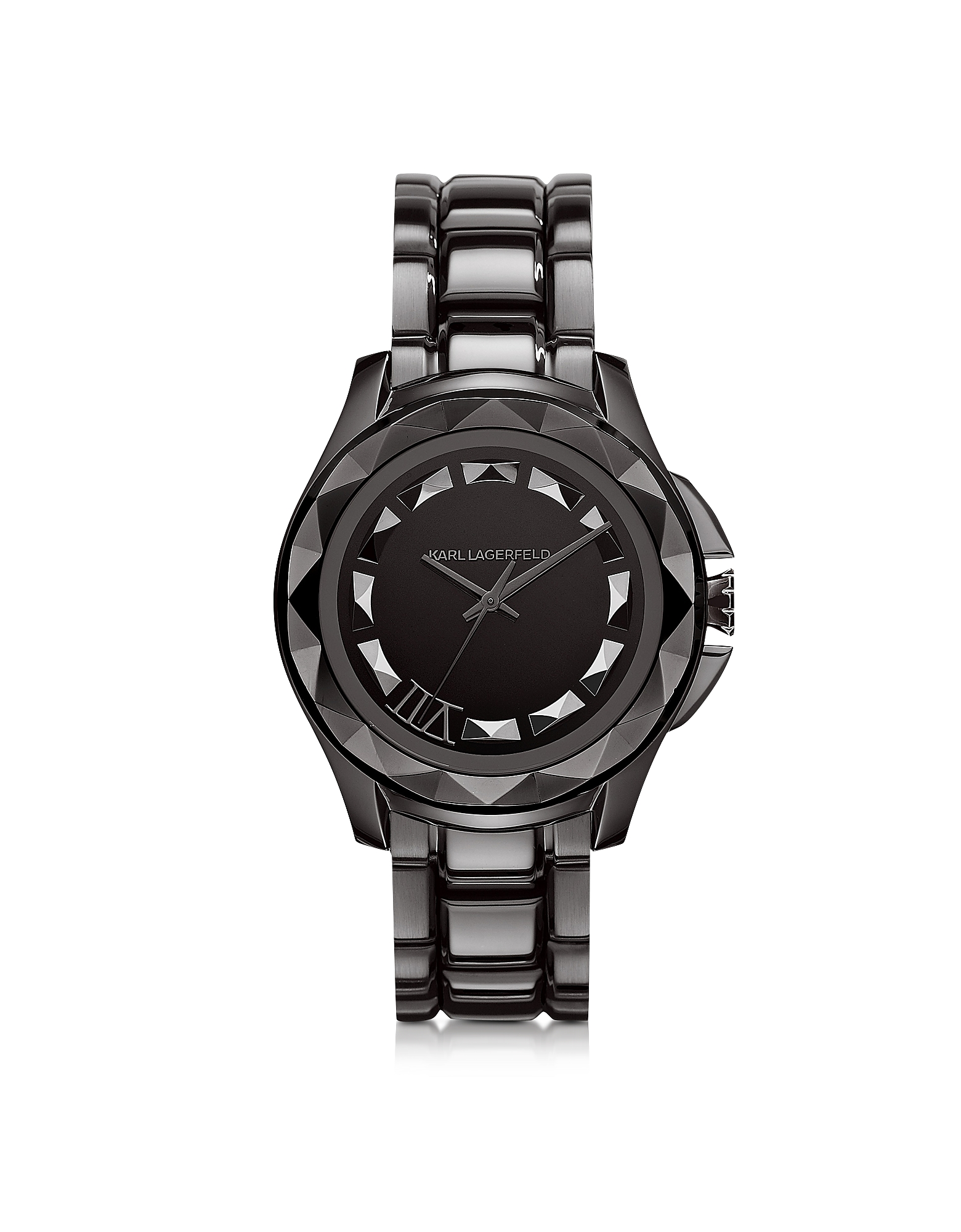 Karl Lagerfeld Karl 7 - 43.5 мм Хромовые Часы Унисекс из Нержавеющей Стали