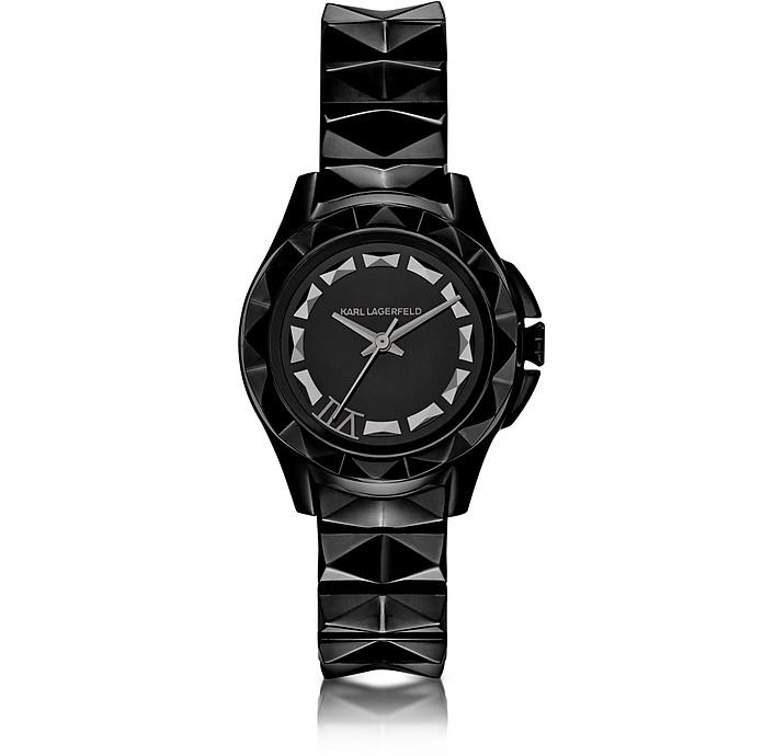 Karl 7 30 mm Black IP Stainless Steel Women's Watch - Karl Lagerfeld