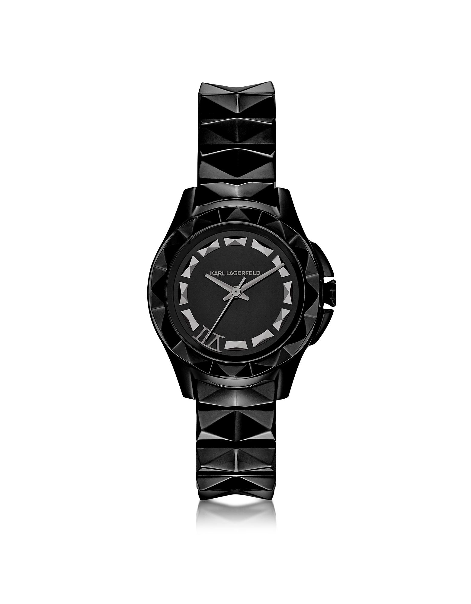 Karl Lagerfeld Karl 7- 30 мм Черные Женские Часы из Нержавеющей Стали