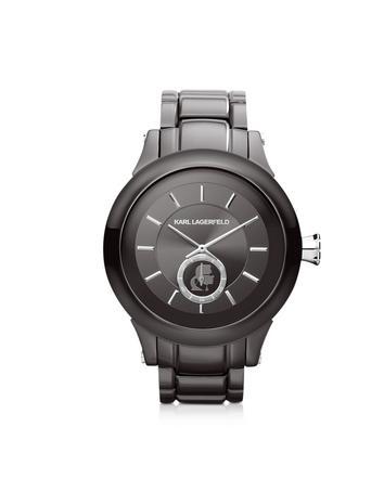 Forzieri DE Karl Lagerfeld Armbanduhr 44,6mm aus Edelstahl in grau