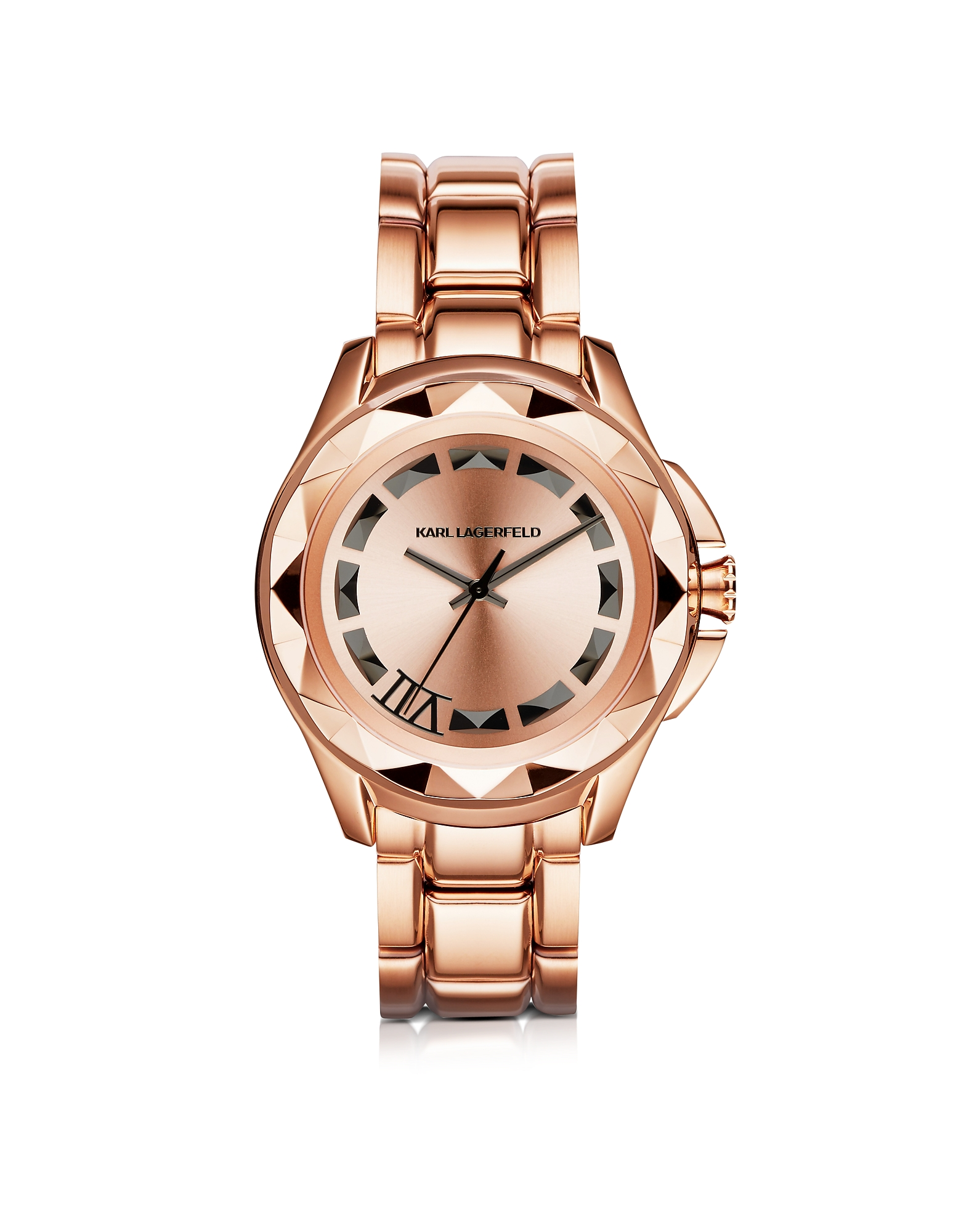 Karl Lagerfeld Women's Watches, Iconic Rose Glod Stainlees Steel Unisex Watch