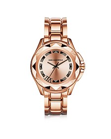 Iconic Rose Glod Stainlees Steel Unisex Watch - Karl Lagerfeld