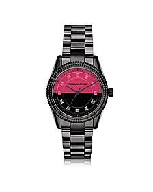 Petite Stud Black Stainless Steel Women's Watch - Karl Lagerfeld