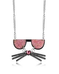 K/Kocktail Necklace w/Glitter Effect - Karl Lagerfeld
