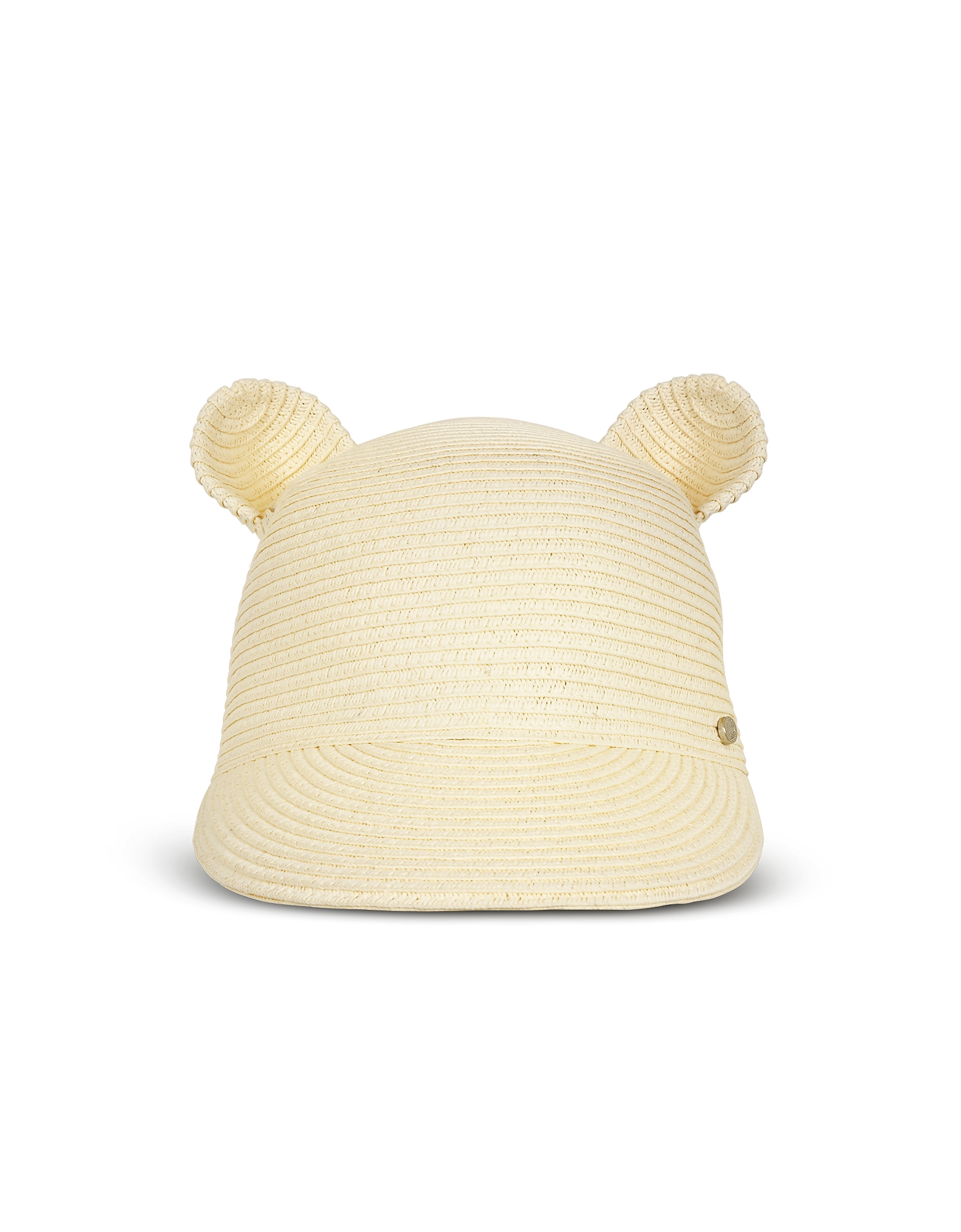 Шляпа из Натуральной Соломки с Кошачьими Ушками