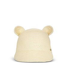 Natural Cat Ears Straw Cap - Karl Lagerfeld