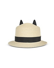 Natural Small Brim Hat - Karl Lagerfeld