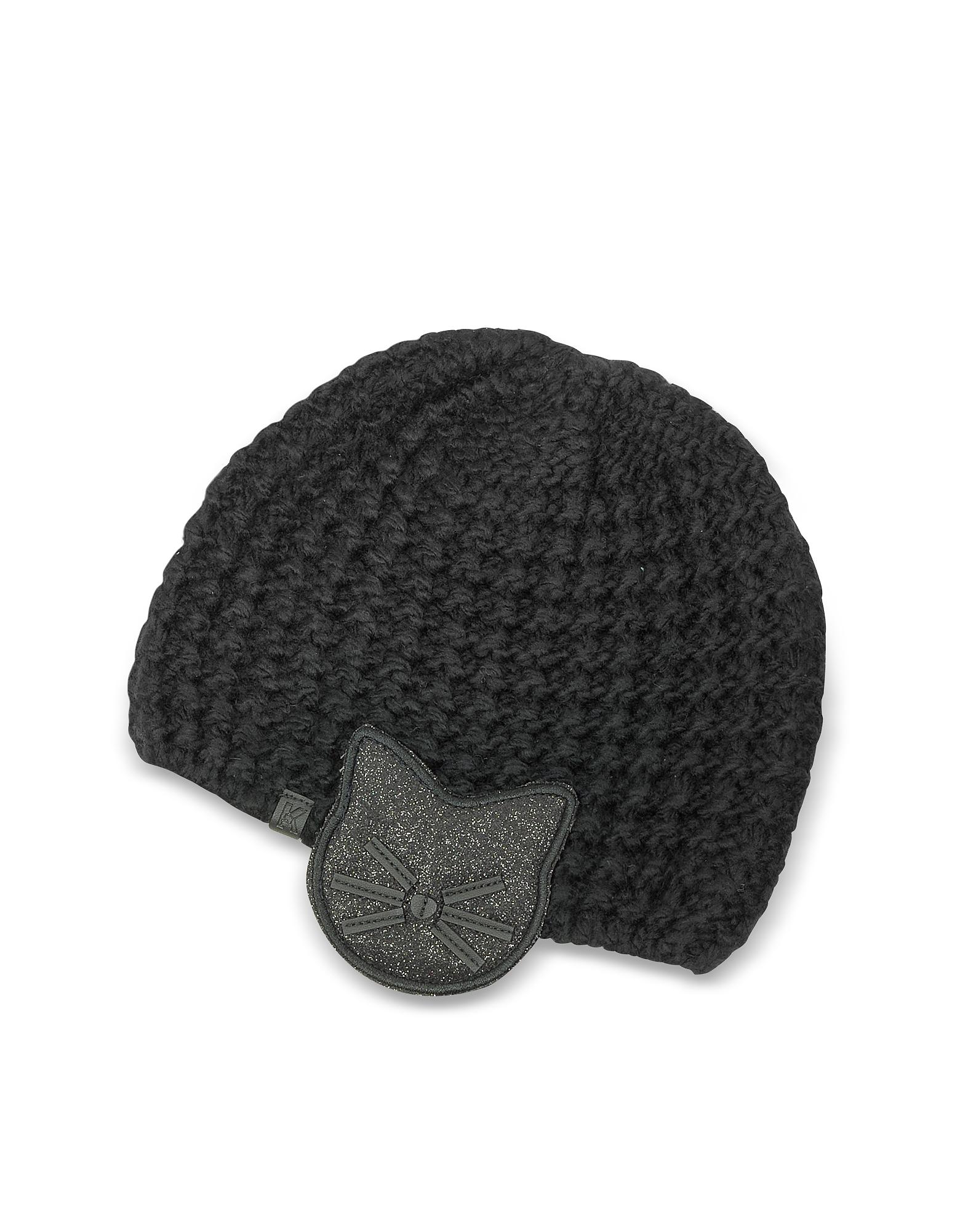 Black Choupette Earmuff Knit Hat от Forzieri.com INT