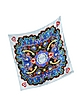 Heart Flames Twill Silk Square Scarf - Mary Katrantzou