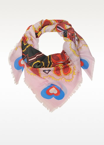 Heart Flames Modal and Cashmere Wrap - Mary Katrantzou